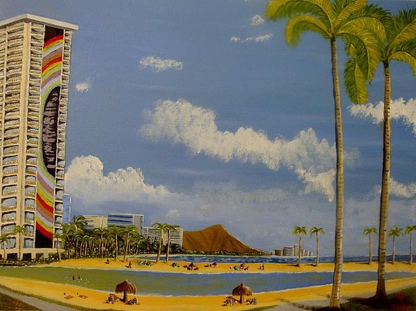 Lagoon On Waikiki Print by Scott Phillips