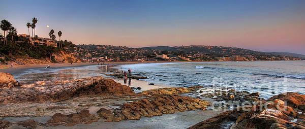 Laguna Beach Panorama Print by Eddie Yerkish