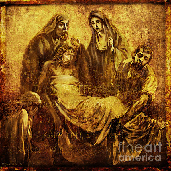 Laid_in_the_tomb Via Dolorosa 14 Print by Lianne Schneider
