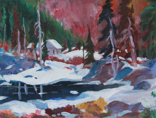 Lake Algonquin Park  Revisited Print by Sherrill McCall