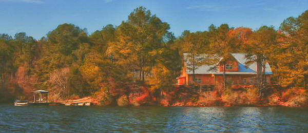 Lake House Print by Brenda Bryant