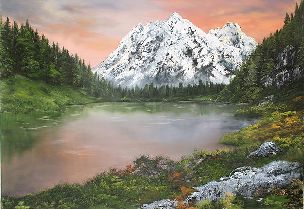 Lake In Austria Print by Jean Walker