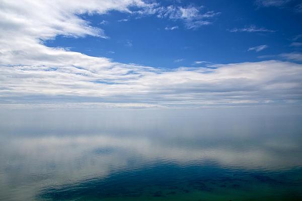 Lake Michigan's Lost Horizon Print by Mary Lee Dereske