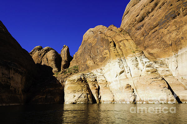 Lake Powell Rock And Sky Print by Thomas R Fletcher