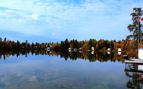 Lake Reflections Print by Larry Trupp