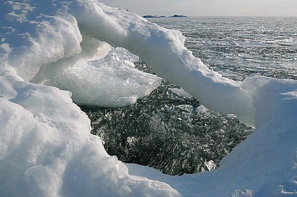 Lake Superior Ice Arch Print by Sandra Updyke