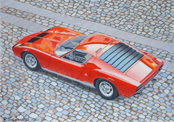 Lamborghini Miura Print by Rimzil Galimzyanov