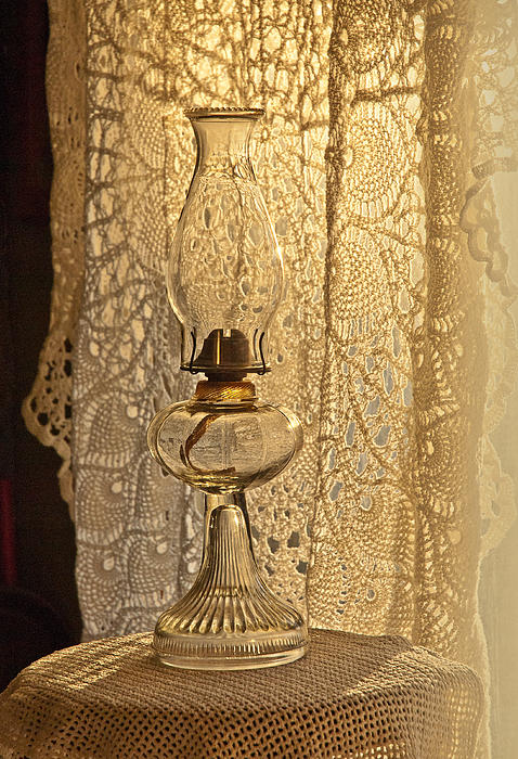 Lamp By The Window Print by Lena Wilhite