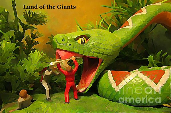 Land Of The Giants Print by John Malone