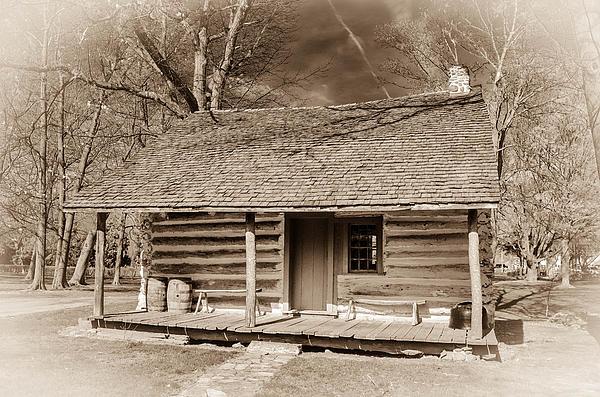 Landow Log Cabin 7d01723b Print by Guy Whiteley
