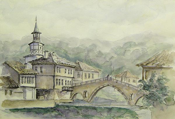 Landscape From Triavna  Print by Milena Dimitrova