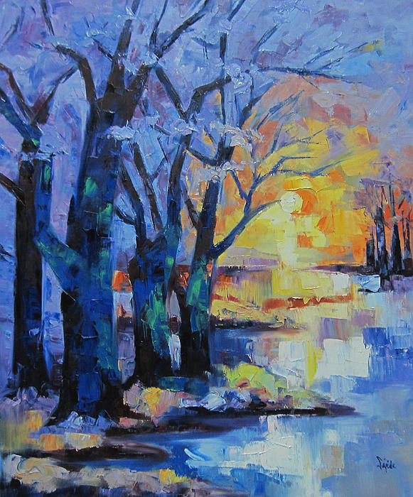 Sajida Hussain - The Sunset at the Lake