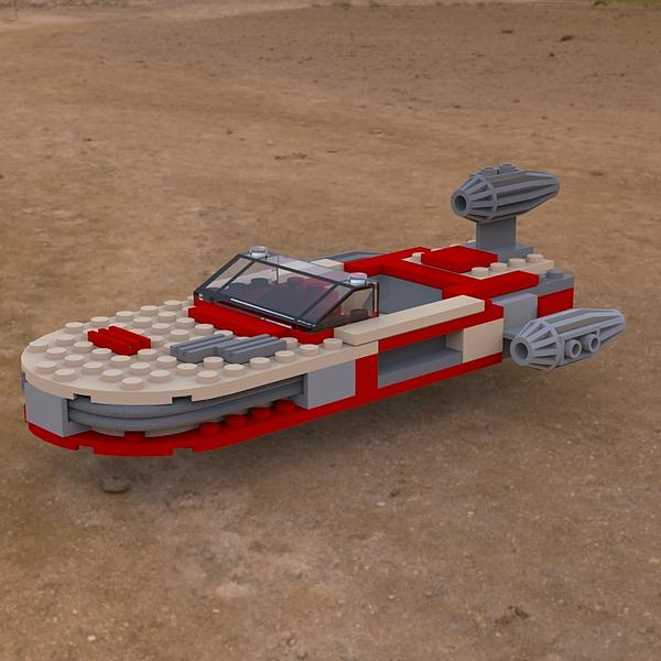 Landspeeder On The Ground Print by John Hoagland