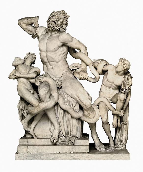 Laocoon With His Sons. 1st C. Bc Print by Everett