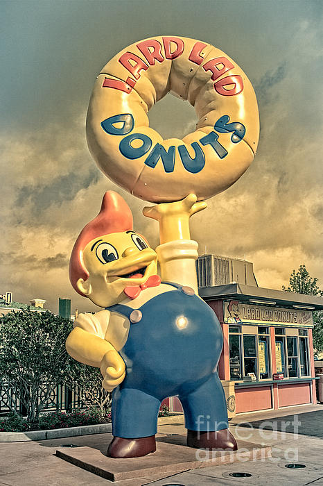 Lard Lad Donuts Print by Edward Fielding