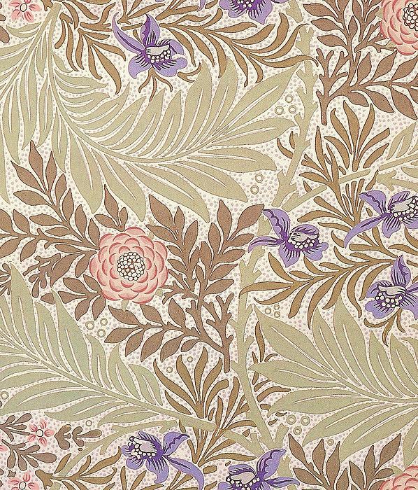 Larkspur Design Print by William Morris