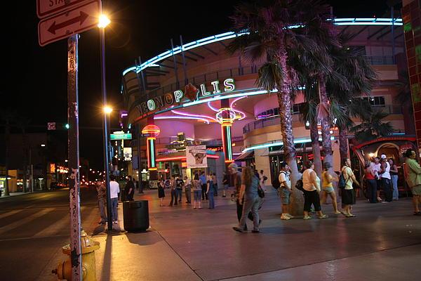 Las Vegas - Fremont Street Experience - 121224 Print by DC Photographer