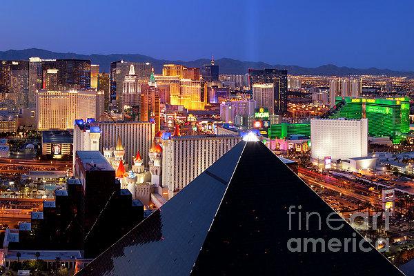 Las Vegas Skyline Print by Brian Jannsen