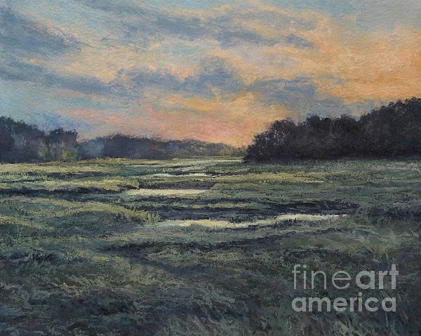 Last Light On The Marsh - Wellfleet Print by Gregory Arnett