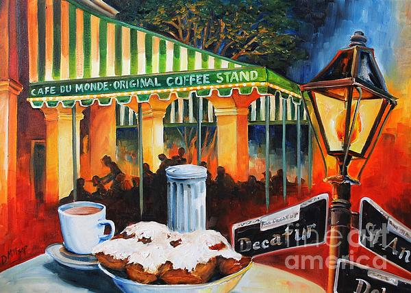 Late At Cafe Du Monde Print by Diane Millsap