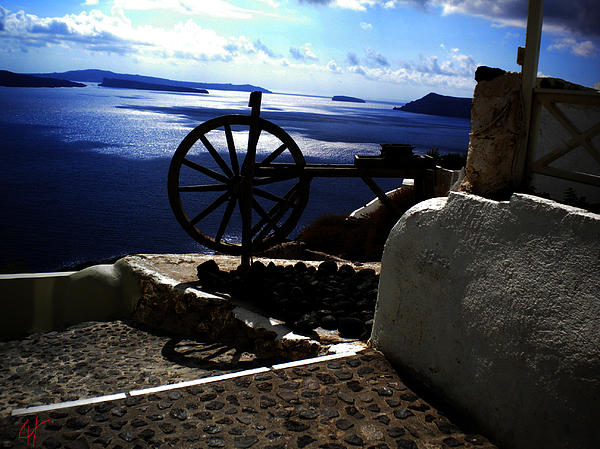 Colette V Hera  Guggenheim  - Late day on Santorini Island Greece
