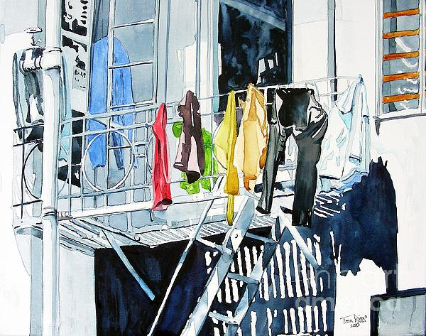 Laundry Day In San Francisco Print by Tom Riggs