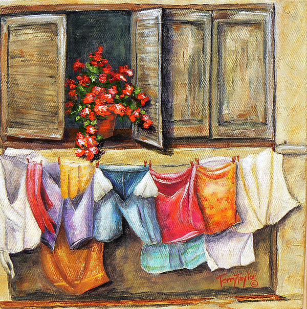 Terry Taylor - Laundry Day in the Villa