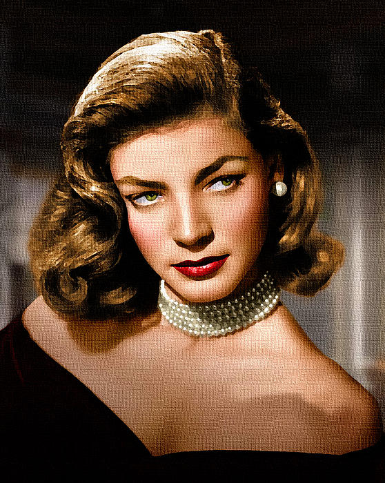 Lauren Bacall Print by Allen Glass