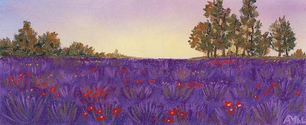Lavender Evening Print by Anastasiya Malakhova
