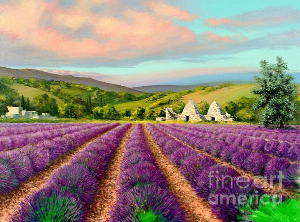 Lavender II Print by Michael Swanson
