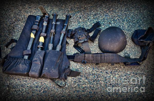 Law Enforcement -swat Gear - Entry Tools Print by Paul Ward