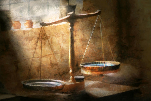 Lawyer - Scale - Balanced Law Print by Mike Savad