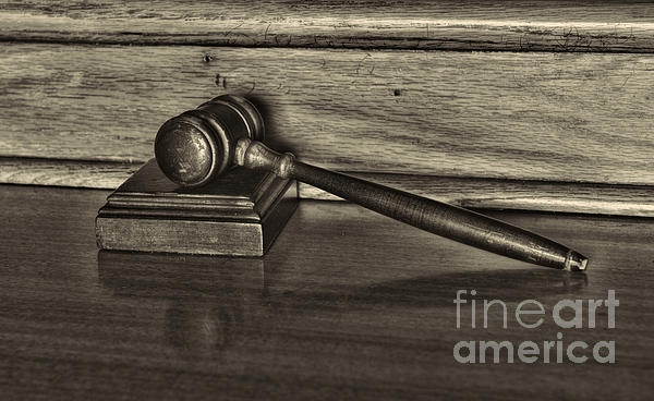 Lawyer - The Gavel Print by Paul Ward