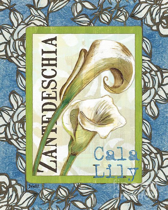 Lazy Daisy Lily 1 Print by Debbie DeWitt