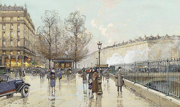 Le Boulevard Pereire Paris Print by Eugene Galien-Laloue