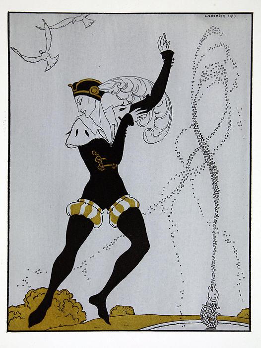 Le Pavillion D'armider Print by Georges Barbier