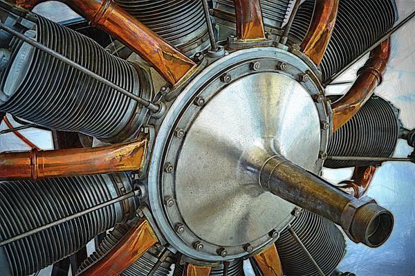 Le Rhone C-9j Engine Print by Michelle Calkins