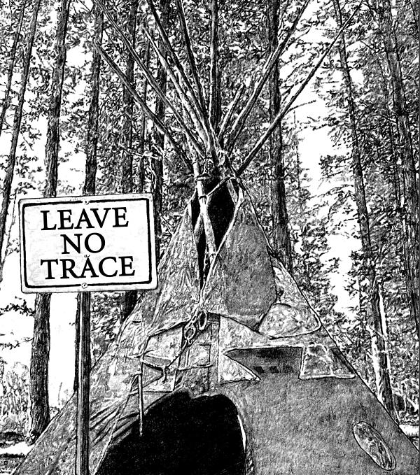 It is an image of Trust Leave No Trace Printable
