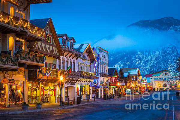 Leavenworth Skyline Print by Inge Johnsson
