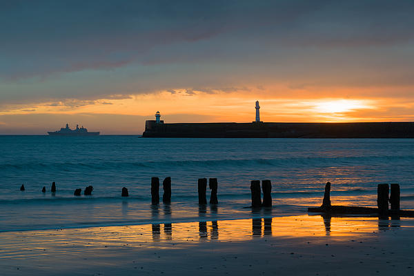 Leaving Port Print by Dave Bowman