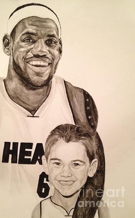 Lebron And Carter Print by Tamir Barkan