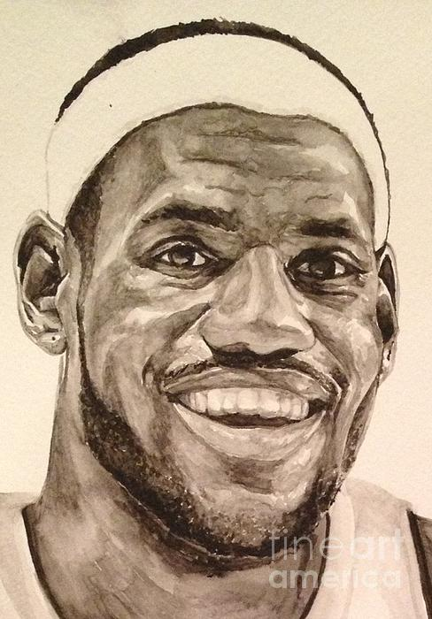 Lebron James Print by Tamir Barkan