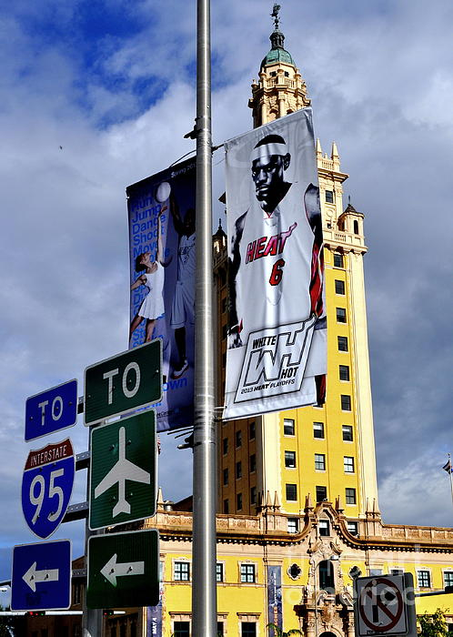 Lebron Tower Print by Anthony Prol