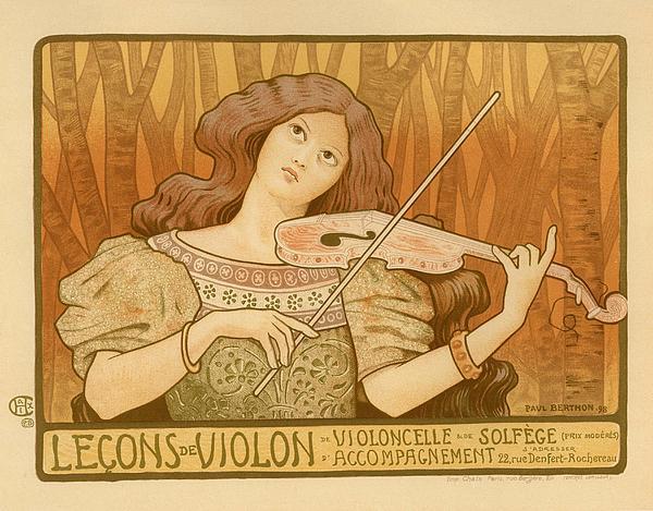 Lecons De Violon Print by Gianfranco Weiss