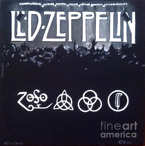 Led Zeppelin Print by Richard John Holden