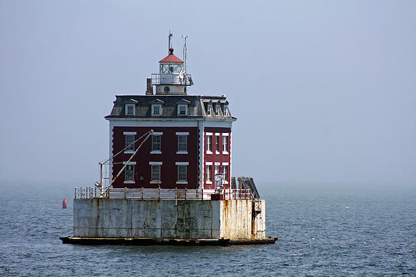 Ledge Light - Connecticut's House In The River  Print by Christiane Schulze Art And Photography