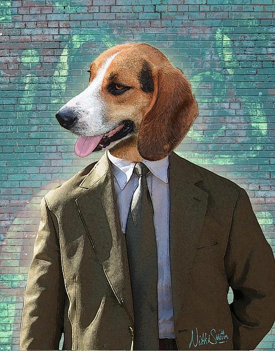 Legal Beagle Print by Nikki Smith