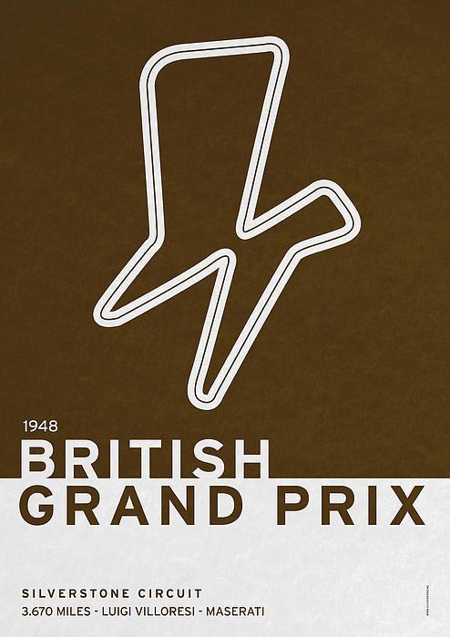 Legendary Races - 1948 British Grand Prix Print by Chungkong Art