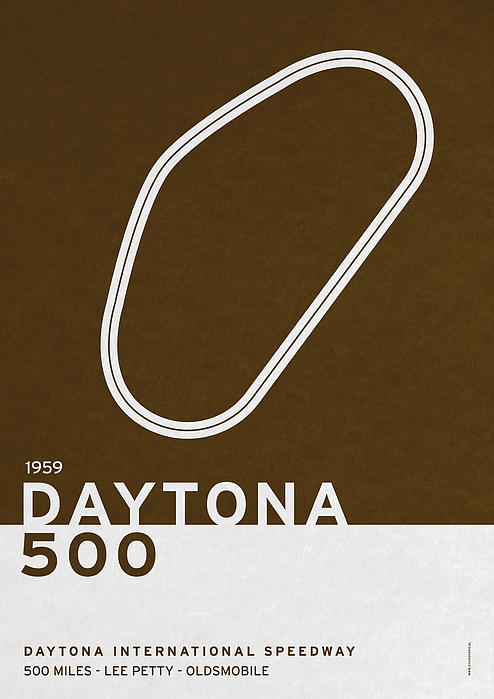 Legendary Races - 1959 Daytona 500 Print by Chungkong Art