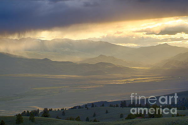 Lemhi Valley Light Print by Idaho Scenic Images Linda Lantzy